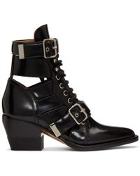 Chloé - Black Rylee Medium Boots - Lyst