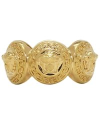 Versace - Gold Multiple Coins Ring - Lyst