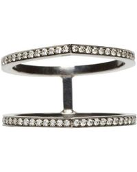 Repossi - Black Gold Pave Diamond Double Antifer Ring - Lyst
