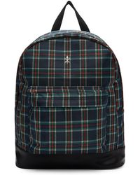 Opening Ceremony - Navy And Red Plaid Backpack - Lyst