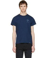 Rag & Bone - Indigo Vacation T-shirt - Lyst