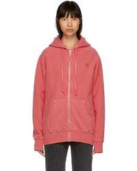 Noah - Pink Logo Zip-up Hoodie - Lyst