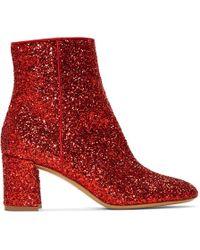 Mansur Gavriel - Red Glitter Boots - Lyst