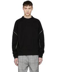 Tim Coppens - Black Zipper Sweatshirt - Lyst