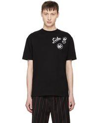 McQ Alexander McQueen | Black Skater Swallow Badge T-shirt | Lyst