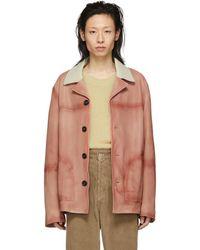 Acne Studios - Pink Leather Lance Jacket - Lyst