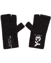 Y-3 - Black Logo Badge Gloves - Lyst
