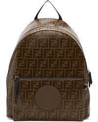 cf5fb2bdcac4 Fendi - Brown And Black Forever Backpack - Lyst