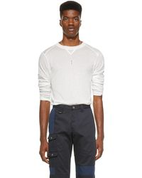 Jacquemus White Long Sleeve Le T-shirt Yvan T-shirt