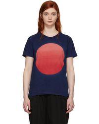 Blue Blue Japan - Indigo Graduated Circle T-shirt - Lyst