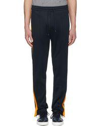 Valentino - Navy And Orange Zip Trousers - Lyst