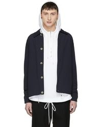 Tim Coppens - Navy Double Shell Shirt Jacket - Lyst