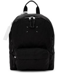 Maison Margiela - Black Nylon Canvas Backpack - Lyst