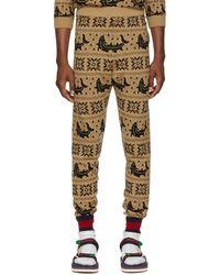 e8ba6e2a4 Gucci Gg-jacquard Slim-leg Cotton-jersey Track Pants in Blue for Men ...