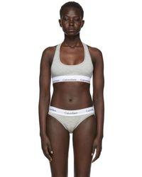Calvin Klein - Grey Modern Cotton Bralette - Lyst