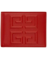 Givenchy - Red 4g Logo Wallet - Lyst