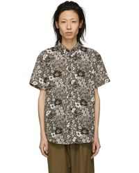 Acne Studios - Brown And White Isherwood Shirt - Lyst