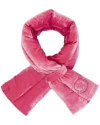 Moncler - Pink Velvet Scarf - Lyst