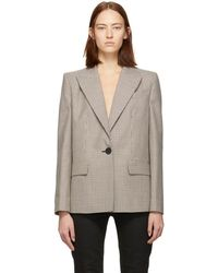 Givenchy - Brown And Beige Prince Of Wales Blazer - Lyst