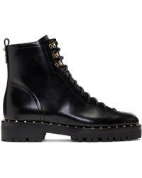 Valentino - Black Garavani Soul Rockstud Combat Boots - Lyst