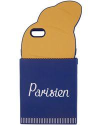 Maison Kitsuné - Navy & Orange 'parisien' 3d Croissant Iphone 6 Case - Lyst