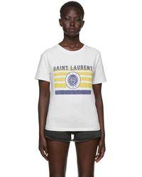 Saint Laurent - Off-white University T-shirt - Lyst