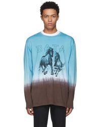 Baja East - Blue Long Sleeve Freedom T-shirt - Lyst