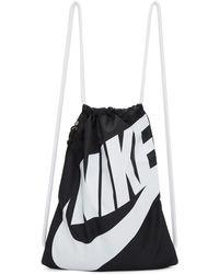 Nike | Black Heritage Logo Gym Backpack | Lyst