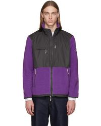 The North Face - Purple And Grey Denali Zip-up Jumper - Lyst