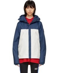 The North Face | Blue And White 1990 Mountain Jacket | Lyst