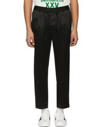 Gucci - Black Logo Band Trousers - Lyst