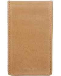 Rick Owens - Beige Leather Bifold Wallet - Lyst