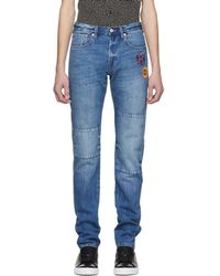 PS by Paul Smith - Blue Embroidered Slim Standard Fit Jeans - Lyst