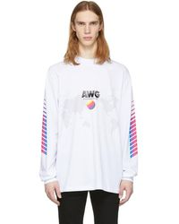 Alexander Wang - White Long Sleeve Awg Corporate T-shirt - Lyst