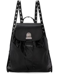 MM6 by Maison Martin Margiela - Black Leather Backpack - Lyst