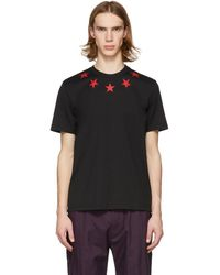 Givenchy - Black And Red Vintage Stars T-shirt - Lyst