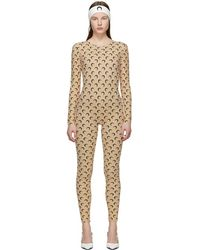 Marine Serre Ssense Exclusive Tan Moon Catsuit