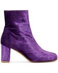 Maryam Nassir Zadeh - Purple Velvet Agnes Boots - Lyst