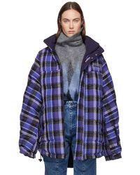 Martine Rose - Reversible Blue Check Acho Jacket - Lyst