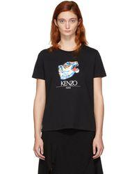 KENZO - Black Tiger Head T-shirt - Lyst