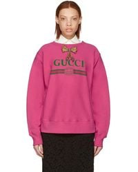 Gucci - Pink Bow Logo Pullover - Lyst