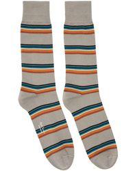 Paul Smith - Grey Artist Block Socks - Lyst