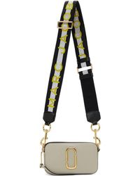 Marc Jacobs グレー And オフホワイト スモール Snapshot カメラ バッグ - マルチカラー