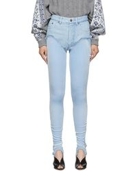 Y. Project - Blue Stirrup Shorts Jeans - Lyst
