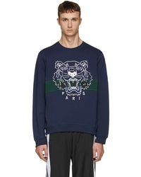 KENZO - Navy Urban Tiger Sweatshirt - Lyst