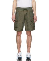 John Elliott - Khaki Tactical Cargo Shorts - Lyst