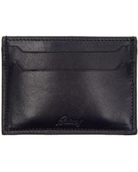 Brioni - Navy Leather Card Holder - Lyst