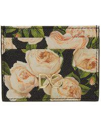 Dolce & Gabbana - Multicolor Flowers Card Holder - Lyst