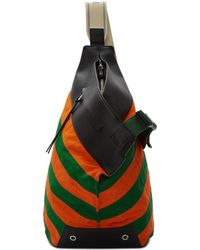 Loewe Green And Orange Anton Backpack - Multicolour