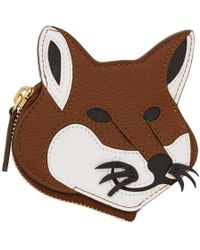 Maison Kitsuné - Brown Fox Head Coin Pouch - Lyst